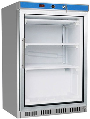 Thermaster single glass Door under counter Freezer 140Lt