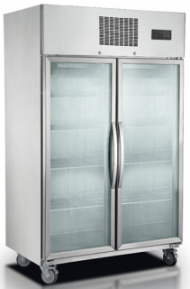 Tropicalised Double Glass Door Upright Freezer