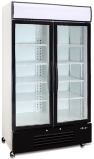 Saltas Double Glass Door Upright Display Freezer