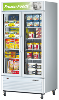 Skipio Double glass door upright Freezer White
