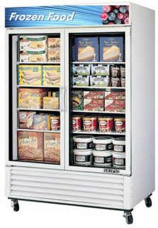 Skipio SGF-49-W Double glass door upright Freezer White