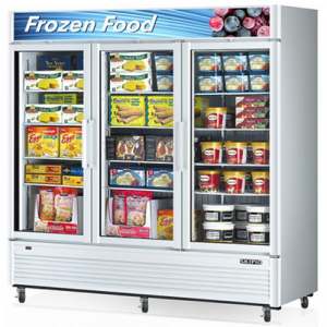 Skipio triple glass door upright Freezer White