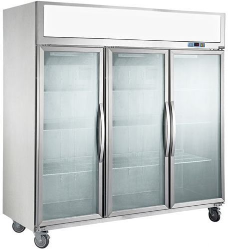 Tecnotherm three Glass Door Upright Freezer