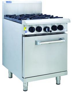 LUUS PRO 4 OPEN BURNER WITH GAS OVEN RANGE
