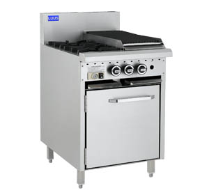 LUUS 2 OPEN BURNER, 300mm GRILL WITH GAS OVEN RANGE