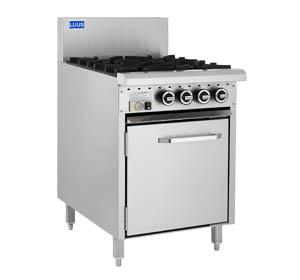 LUUS 4 OPEN BURNER WITH GAS OVEN RANGE