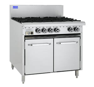 LUUS 6 OPEN BURNER WITH GAS OVEN RANGE