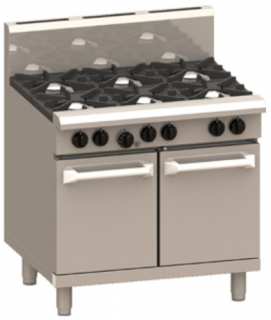 LUUS PRO 6 OPEN BURNER WITH GAS OVEN RANGE