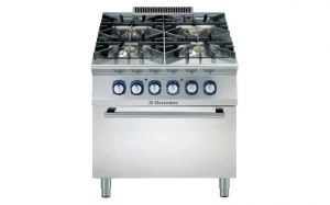Electrolux Professional 900XP 4 gas burner range & electric oven