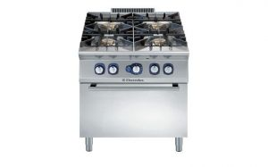 Electrolux Professional 900XP 4 gas burner range & gas convection oven