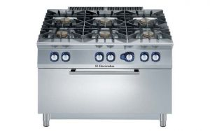 Electrolux Professional 900XP 6 gas burner range & gas oven
