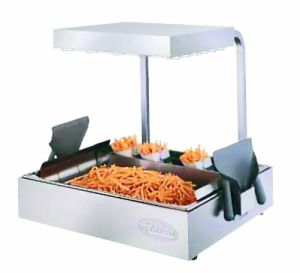 Hatco Glo-Ray Pass Through Chip Dump Scuttle Fry Station Warmer