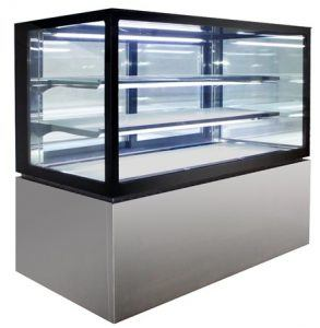 Anvil 3 Tier Square Glass Hot Display 900mm