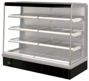 FPG VISAIR 1820mm Wide Open Face Heated Heavy Duty Display 3 shelves