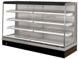 FPG VISAIR 2408mm Wide Open Face Heated Heavy Duty Display 3 shelves