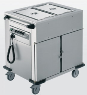 Rieber Bain Marie Top 2 x Heated Cabinets Mobile Food Transport Trolley