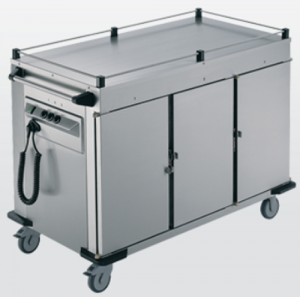 Rieber 3 x Heated Cabinets Mobile Food Transport Trolley