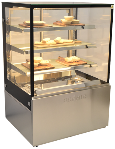 Bromic 900mm wide 4 tier square glass heated display