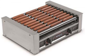 Meris Hot Roller Grill 27 capacity chromed coated