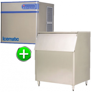Bromi Ice maker 146kg production with 450kg storage solid ice