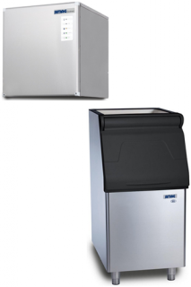Bromi Ice maker 160kg production with 129kg storage half size ice