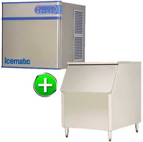 Bromi Ice maker 240kg production with 227kg storage Solid ice