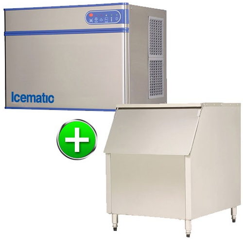 Bromi Ice maker 320kg production with 227kg storage Solid ice