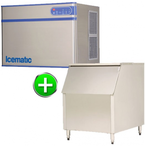 Bromi Ice maker 320kg production with 450kg storage Solid ice