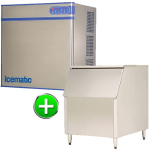 Bromi Ice maker 485kg production with 227kg storage Solid ice