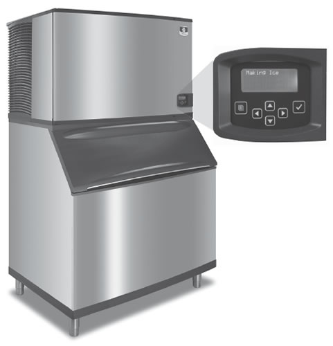 Manitowoc Ice Machine 801kg Production with Storage 322kg Full Ice