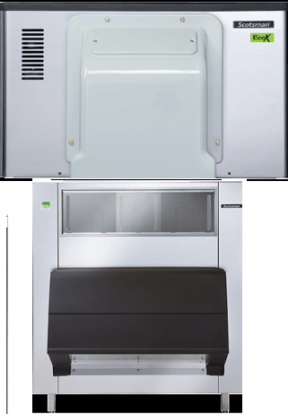 Scotsman Eco X Modular Scale Ice Maker 684kg - 760kg Production With 553kg Storage