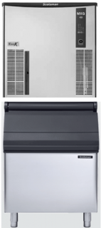 Scotsman 180kg Eco X Medium Cube Ice Maker MXG M 438 AS With 178kg storage