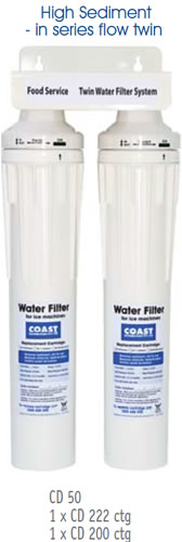 Coast Pre Sediment Filter System With 1 x CD2020 Cartridge & 1 x 250 Cartridge
