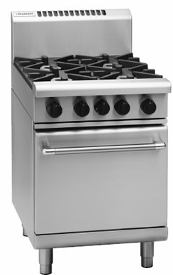 Waldorf 4 open burner with gas Static oven
