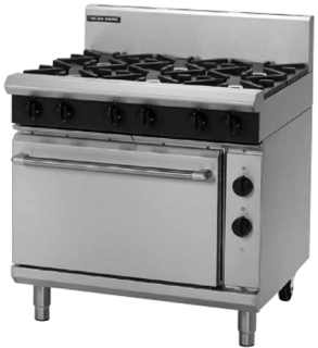Blue Seal 6 open Burner with Electric Static Oven