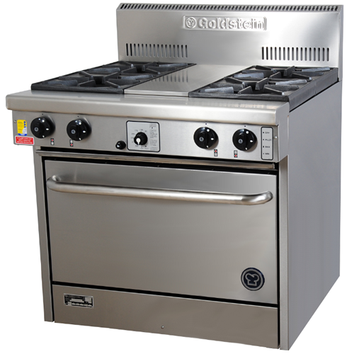 Goldstein 4 open burner gas Convection Oven Range