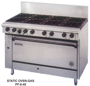 Goldstein 8 open burner gas Convection Oven Range