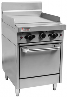 Trueheat 600mm griddle plate with gas static Oven Range   600 mm Wide