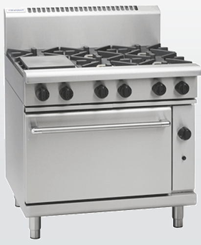 Waldorf 6 open burner with gas Static oven