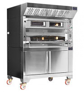 Fornitalia Double Deck Pizza Oven Hood & Base Electric