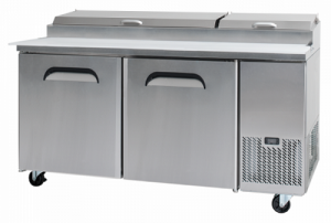 Bromic 2 Door Pizza Prep Counter Fridge PP1700