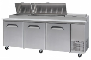 Bromic 3 Door Pizza Prep Counter Fridge PP2370