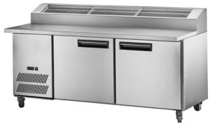 FED Thermaster Deluxe Three door Pizza bar Prep Fridge