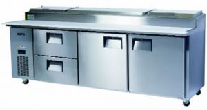 Skope Centaur double door + 2 drawers Pizza Prep Fridge