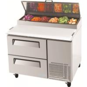 Turbo Air 2 Drawer Pizza Prep Fridge CTPR-44SD-D2