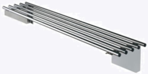 Simply Stainless <br />600mm Long Pipe Wall Shelf With Brackets