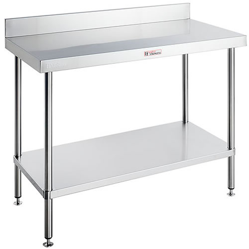 Simply Stainless <br />300mm x 600mm workbench with splashback