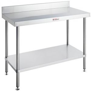 Simply Stainless <br />1200mm x 600mm workbench with splashback