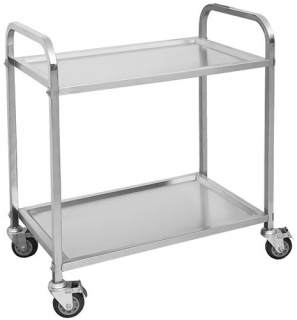 Modular System Stainless Steel 2 Tier Trolley