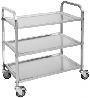 Modular System Stainless Steel 3 Tier Trolley